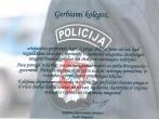 Kalėjimų departamento direktorės sveikinimas Policijos dienos proga