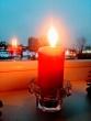 Laisvės gynėjų dienai atminti Vilniaus apygardos probacijos tarnybos languose suplazdėjo žvakių liepsnelės