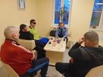 Marijampolės Pusiaukelės namų gyventojai susitiko su Probacijos tarnybos atstovu
