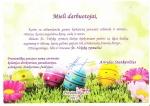 Direktoriaus funkcijas atliekančio direktoriaus pavaduotojo Arvydo Stankevičiaus sveikinimas Šventų Velykų proga