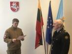 Tarnauti Lietuvos valstybei prisiekė naujas Mokymo centro pareigūnas