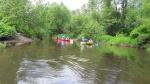 Kauno apygardos probacijos tarnybos kolektyvas išbandė savo jėgas Šalčios upės vingius