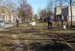 Pusiaukelės namų gyventojai prisidėjo prie miesto tvarkymo