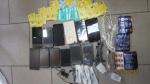 Užkardant permetimą ir atlikus bendrąją kratą slėptuvėje rasti galimai permesti nuteistiesiems draudžiami turėti daiktai