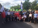 """Alytaus pataisos namų darbuotojai dalyvavo eisenoje """"Per pačią miesto širdį"""""""
