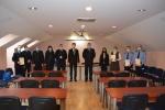 Teisingumo ministras Elvinas Jankevičius Kauno tardymo izoliatoriaus darbuotojams įteikė Lietuvos Respublikos teisingumo ministerijos I ir II laipsnio garbės ženklus ir padėkas