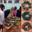 Kalėdinio vainiko pynimas jau tampa pusiaukelės namų tradicija